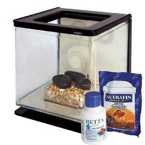 Marina-Aquarium-Cube-Desk-Fish-Tank-Betta-Bowl-ZEN-2L