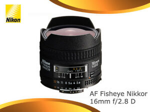 Nikon-Nikkor-AF-16mm-16-F2-8-f-2-8-D-Fisheye-Lens-New