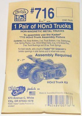 Kadee Hon3 Scale 716 Arch Bar Type Metal Trucks Kit - (3'7 Wheel Base)