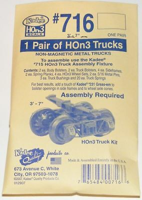 Kadee Hon3 Scale 716 Arch Bar Type Metal Trucks Kit - (3'7 Wheel Base)