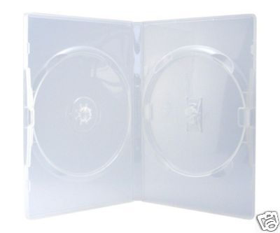 50 Amaray DVD Hüllen 2er Box 14 mm für je 2 BD / CD / DVD transparent