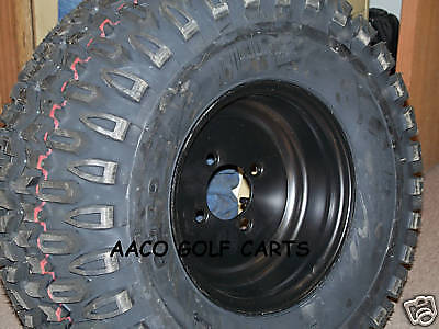 Golf Cart Wheel And Tire Combo For Lifted E-z-go 10 In. Set Of 4 Alterain