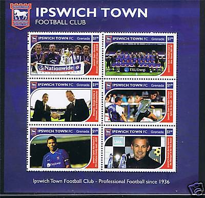 Grenada 2001 Ipswich Town Football Club SG4579/84 MNH