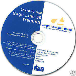 Sage Line 50 Interactive Training CD Covers Basic & Advanced EXCELLENT