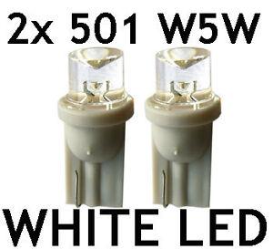 2x-501-T10-W5W-LED-WHITE-XENON-Look-sidelight-bulbs-UK