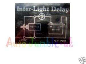 12v interior light lamp delay switch 12volt car van camper ebay. Black Bedroom Furniture Sets. Home Design Ideas