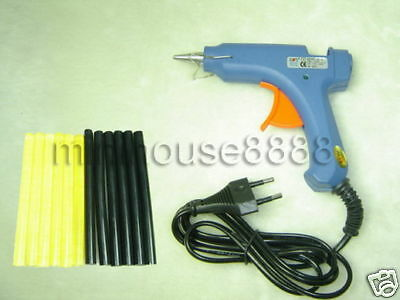 12W hot glue gun + 12 keratin glue sticks