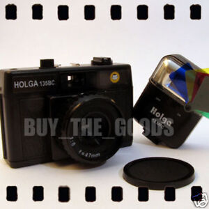 HOLGA 135 BC black Camera w/ colour flash LOMO NEW 135BC 35mm FILM