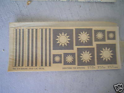 Vintage Chinese Army Navy Aircraft Decals JACO LAC LOOK