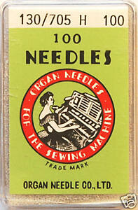 Organ-Sewing-Machine-Needles-Universal-130-705H-size-100-x-Box-of-100-BLB95