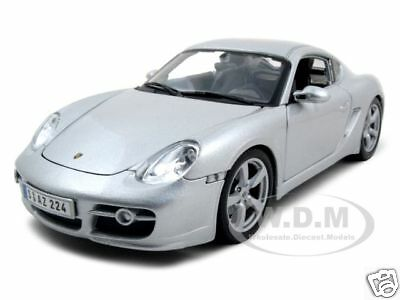 Porsche Cayman S Silver 1:18 Diecast Model Car By Maisto 31122