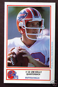 Jim-Kelly-1987-ROOKIE-RC-1st-first-Buffalo-Bills-Police-trading-cards-TWO