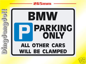 BMW Parking Sign Novelty Gift M Z Mini X X Z M EBay - Bmw parking only signs