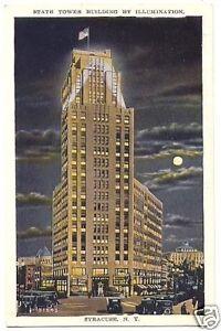 Postcard-State-Tower-Bldg-Illuminated-Syracuse-New-York