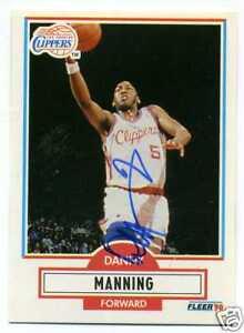 Signed 1990-91 Fleer #87   DANNY MANNING Clippers Kansas PSA Guarantee