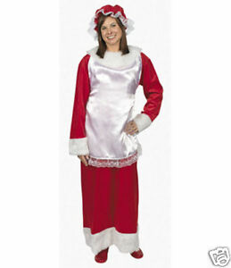 MRS-Santa-Claus-Dress-Costume-Adult-Woman-Clause-NEW-Christmas-Holiday-Outfit