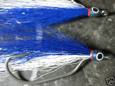 6 Keeled Baitfish Blue Saltwater 2 Fly Fishing Flies Minnow