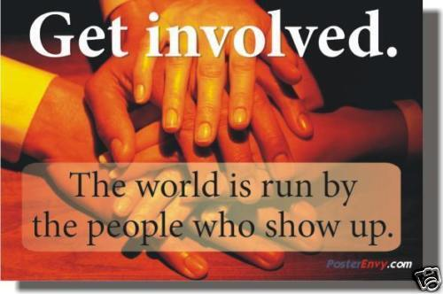 Get Involved. Motivational Charity Inspirational POSTER