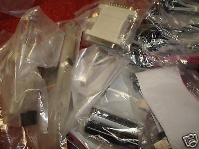 IDE CABLES,LOT OF 17 PLUS OTHER PARTS