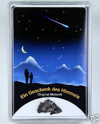 Meteorit SIKHOTE ALIN - Meteoriten Fall Einschlag - Sternschnuppe Geschenk Box