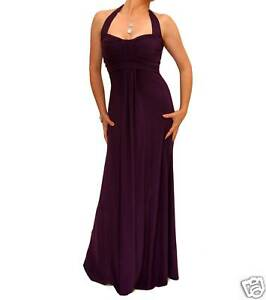 Blue Banana - New Long Evening Halter Neck Maxi Dress - Size 8 10 12 14 16 18