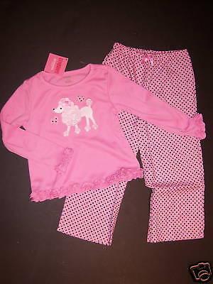 Gymboree Pink Poodle Dot Gymmies Pajamas Xs 3-4 3t