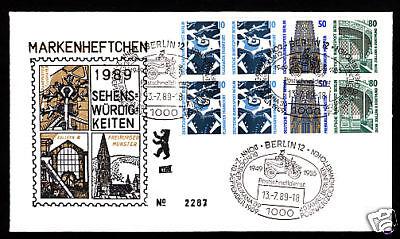 Berlin SWK Heftchenblatt 22 auf Schmuckbeleg mit Sonderstempel