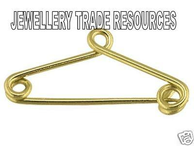 9ct Yellow Gold Safety Pin For Brooch Safety Chains