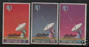 Jamaica 1972 Earth Satellite Station SG 341/3 MNH
