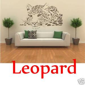 Wandaufkleber-Wandbild-Leopard-120cm-Wandtattoo-Aufkleber
