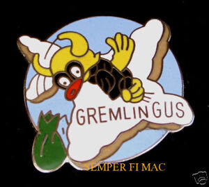 GREMLIN-GUS-NOST-ART-HAT-PIN-UP-US-ARMY-AIR-CORPS-NAVY-AIR-FORCE-MARINES-WOW