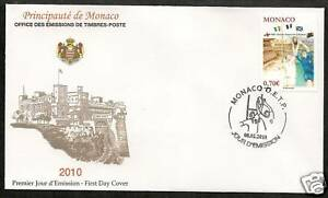 MONACO-2010-CENTENARY-FIVE-NATIONS-RUGBY-OFFICIAL-FDC