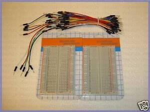 2p-2x400-pts-solderless-breadboard-w-75-pcs-jumper-wire