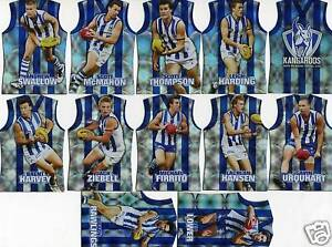 2009-Pinnacle-Holographic-NORTH-MELBOURNE-Team-Set