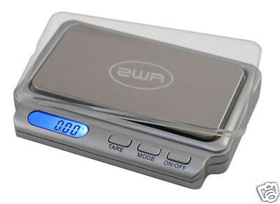 AWS CARD V2 100 Pocket Jewelry Scale 100g x 0.01g Carat Powder Grain