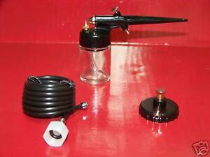 Air-Brush-Airbrush-Spray-Gun-Sprayer-Painting-Tool-Kit-Hobby-w-air-hose-adapter