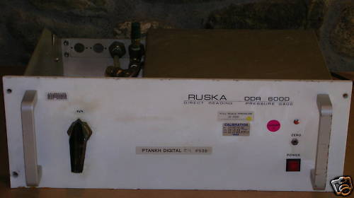 Ruska DDR 6000 Direct Reading Pressure Gage, Controller