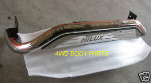 (#28) Toyota Hilux 2005 to 2015 Stainless Steel Rear Step Bar