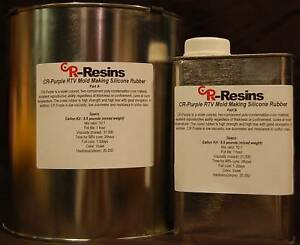 RTV-Silicone-Mold-Making-Rubber-CR-Purple-Quart-Kit