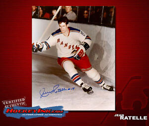 Jean Ratelle SIGNED Rangers 8X10 Photo -70121