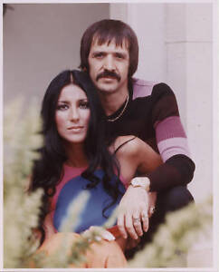 Cher & Sonny one 8x10 color photo photograph #53