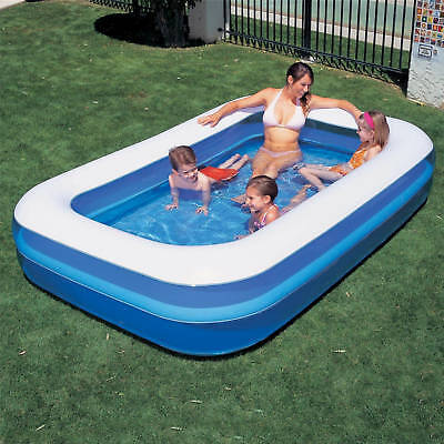Large Rectangular Family Swimming Paddling Pool