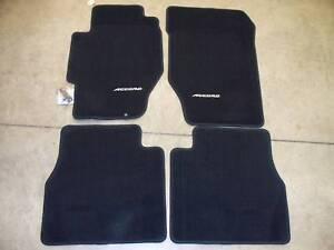 New oem 98 02 honda accord ex lx 4dr black floor mats for 1992 honda accord floor mats
