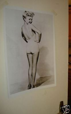 Betty Grable B/W Door Poster NEW