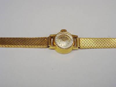 BUCHERER Ladies Wrist Watch 18K Yellow Gold Watch & Band 17 Jewels