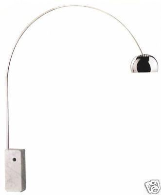 !NEU!  Bogenleuchte Arco von Flos mit Marmorfuss und Dimmer in der LED Variante
