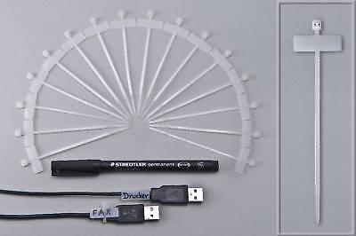 100 Kabelmarkierer Kabelkennzeichner Kabelbinder  - 1 Stift
