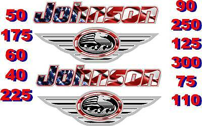 JOHNSON BOAT MOTOR DECALSTICKERDECALS OUTBOARD FLAG EBay - Decals for boat motors