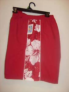 Mens-Water-Sport-red-swim-trunks-size-2X-3X-amp-4X