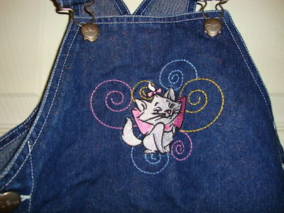 HELLO-KITTY-girls-EMBROIDERED-denim-JUMPER-DRESS-4-euc-NICE